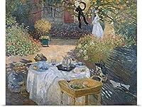 """巨大キャンバスentitled The Luncheon : Monets Garden at Argenteuil、c.1873オイルキャンバスのポスター印刷、36"""" x 29インチ、マルチカラー"""