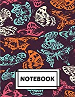 Notebook: Butterflies Colorful: Journal Diary, Lined Pages (Composition Notebook Journal) (8.5 X 11)