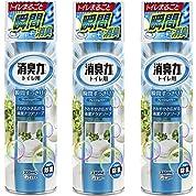 【まとめ買い】 トイレの消臭力スプレー 消臭芳香剤 トイレ用 トイレ アクアソープの香り 330ml×3個
