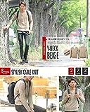 ニット メンズ カットソー セーター カシミアタッチ Vネック ニットソー 薄手 ニットセーター【q146】 スペード画像④
