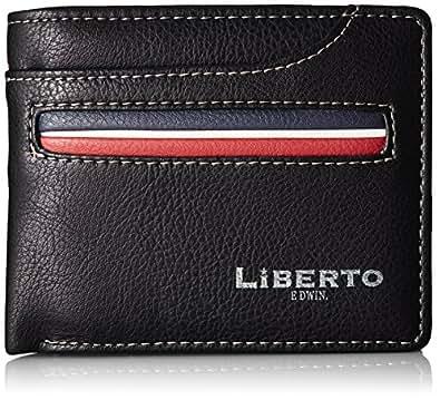 [リベルトエドウィン] 二つ折り財布(中ベラ付) フロントポケット 6LB07A ブラック