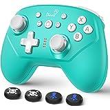 Switch コントローラー DinoFire スイッチ コントローラー 無線 Bluetooth 接続 任天堂switch liteに対応 ワイヤレス プロコン Turbo機能 ジャイロ搭載 HD振動 レベル調整可能 Nintendo switch