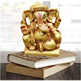 Affaires MUNIM Ganesh Beautiful Brown Ganesha, Ganpati Murti Idol Statue Sculpture for car G-517