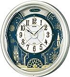 セイコー クロック 掛け時計 電波 アナログ からくり 6曲 メロディ 回転飾り 薄金色 パール RE561H SEIKO