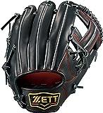 ZETT(ゼット) 野球 硬式 グラブ (グローブ) プロステイタス セカンド・ショート 右投用 ブラック×ディープオレンジ(1958) LH BPROG64