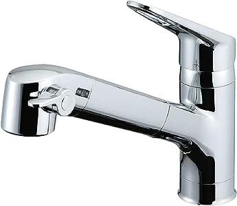 LIXIL(リクシル) INAX キッチン用 台付 浄水器内蔵シングルレバー混合水栓 エコハンドル 浄水 微細シャワー整流 ホース引出し RJF-771Y