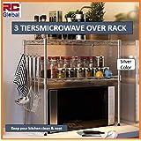 RC Global Microwave oven rack/Microwave Rack/Microwave oven Shelf/Microwave Shelf/Microwave Storage/Kitchen rack/kitchen Orga
