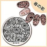Amazon.co.jp【菊テーマ】 綺麗な菊パターンイメージプレートスタンピングプレートネイルアート 春の歌-05
