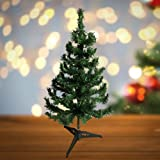 BANBERRY DESIGNS Small Christmas Tree - Artificial Christmas Tree with Stand - Green Pine Tabletop Tree - Approx. 2 Feet