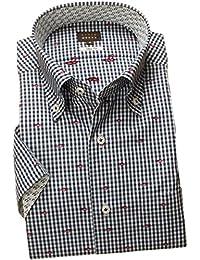 RSN692-001 (スタイルワークス) メンズ半袖ワイシャツ チェック | 青