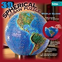 3D Spherical Puzzle - World Globe by Buffalo Games