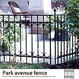 ブラック/Park avenue fence 【フェンス】 ガーデン 【おしゃれ】 ヨーロピアン 高級感 シンプル 上品 庭 仕切り