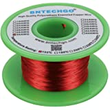 """BNTECHGO 30 AWG Magnet Wire - Enameled Copper Wire - Enameled Magnet Winding Wire - 4 oz - 0.0098"""" Diameter 1 Spool Coil Red"""
