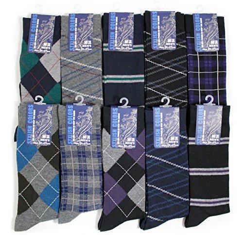 靴下 メンズ ソックス オフィスカジュアルシリーズ クルー丈(レギュラー丈) 10足セット