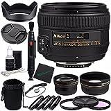 Nikon af-s Nikkor 50mm f / 1.4gレンズ+ 58mm 3PieceフィルタセットUV、CPL、FL ) + 58mm + 1+ 2+ 4+ 10クローズアップマクロ..