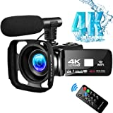 4K Video Camera Camcorder Vlogging Camera for YouTube UHD 48M 30FPS Digital Zoom Camcorder Infrared Night Vision 3 in Touch S