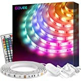 Govee LED Strip Lights 5m, with 44 Key Remote for Bedroom, Kitchen, Desk, TV, 12V Power Supply UK Plug