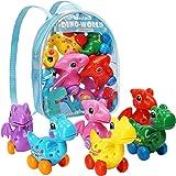 Dinosaur Toys for 3 Year Olds, 6 Pack Wind Up Pull Back Dinosaur Toys for 3,4,5,6 Years old Girls Toddlers Boys, Dinosaur Bir