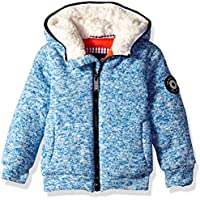 Ben Sherman Boys' Toddler Sweater Fleece Jacket, Heather