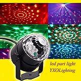ミニRGB LEDサウンドプロジェクターライト クリスタルマジックボール ディスコ バー パーティ ー クリスマス ショー ステージライトMQ-03-A