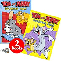 Tom and Jerry Coloring and Activity Book Set (2 Books ~ 96 Pages) [Floral] [並行輸入品]