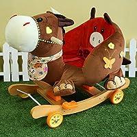 yxcsell Rocking Chair for Toddlers Girls & Boys Rocking Animal Donkey Chairミックスカラー