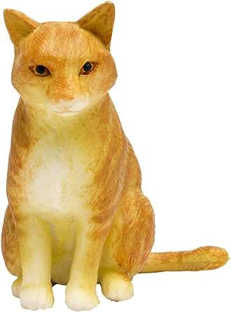 プラッツ 1/12 和ねこ 茶白トラ (座り) 彩色済み動物フィギュア WNK-6