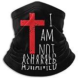 I Am Not Ashamed Big Red Cross Christian Unisex Bandana Face Mask Warmer Neck Tube for Dust Wind Sun Protection