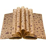Wax Paper Deli Wraps Food Wrapping Basket Liners Deli Papers for Handmade Soap,Cookies and Carmels (100 sheets, Chocolate)
