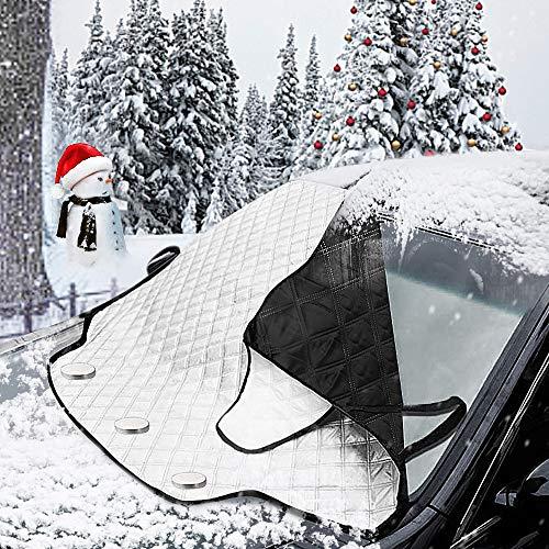 MATCC 改良版 雪対策 車用 凍結防止 カーフロントカバー 内臓磁石三枚 2...