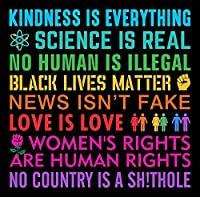Kindness Black Lives レディース Rights Love Science Resist ステッカー バンパーステッカー ウィンドウビニール アメリカ製 5インチ
