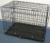 iimono117 折りたたみ式 ペットケージ 90×50×65cm LLサイズ / スライドトレー付 ドッグサークル 大型犬用 犬 猫 ペット ハウス トレイ 旅行 移動 お出かけ ゲージ 中型犬 大型犬 ハウス サークル ケージ ゲージ