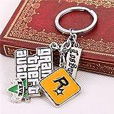 NW ps4ゲームキーチェーングランド・セフト・オート5Grand Theft Auto 5KeychainsメンズのファンXbox PC RockstarキーチェーンクリエイティブKeyfobツール