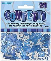 Blue Glitz 21 Table Confetti - 21st birthday/21st anniversary - blue/silver - 14.1g bag