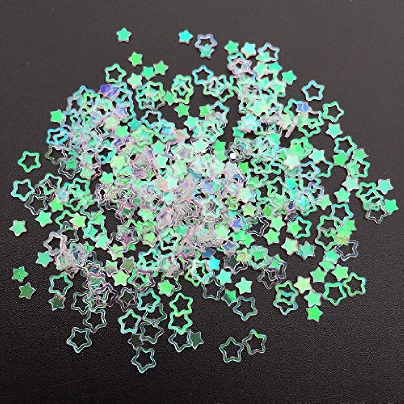 一握りコンピューターを使用する印象ネイルアートマニキュア縫製結婚式の装飾紙吹雪のための20グラム3mmの中空スターP形PVC緩いスパンコールグリッタースパンコール