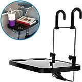 Portable Car Tablet Holder, Car Vehicle Seat Back Mount Tray, Foldable Hanging Laptop Desk and Car Dining Food Drink Desk Cup