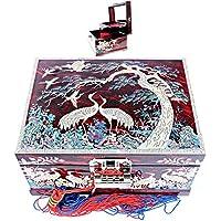 ジュエリーボックスオーガナイザー音楽ボックス2 Darwers真珠のギフトアイテムlm31red