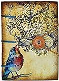 Special Binding Singing Bird Diary (11 cm x 3 cm x 15.5 cm)