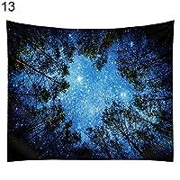 星空惑星フォレストマンビーチマットタオルショール毛布壁掛けタペストリー - 13#XL