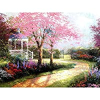 DIY Oil Painting Frameless, Paintworks Paint By Numbers Kits DIGIC Wall Art Picture Landscape Pattern 16 x 20 inch Home Decoration Painting for Kids and Adults Beginners [Path]