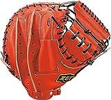 ZETT(ゼット) 野球 軟式 キャッチャーミット プロステイタス 右投用 ディープオレンジ/ブラック(5819) BRCB30722