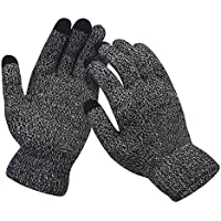 Mokie Mens&Womens Screen Knitted Non-Slip Gloves Soft Woolen Winter Gloves Mittens