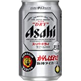 Asahi Super Dry Beer Can, 350 ml (Pack of 24)