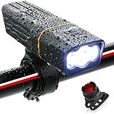自転車 ライト ロードバイク 防水 LEDライト USB充電式 900ルーメン 2600mAH 自転車 ヘッドライト 長時間 高輝度 懐中電灯 盗難防止 360度回転 ヘッドライト フラッシュ ゴムシート付き バッテリーインジケーター 三つモード 防