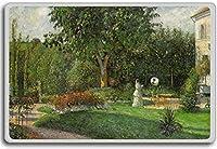 Camille Pissarro - Garden Of Les Mathurins At Pontoise (1876) classic art fridge magnet - 蜀キ阡オ蠎ォ逕ィ繝槭げ繝阪ャ繝