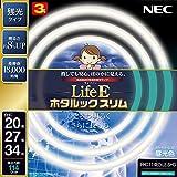NEC 丸形スリム蛍光灯(FHC) LifeEホタルックスリム 114W 20形+27形+34形パック品 昼光色 FHC114ED-LE-SHG