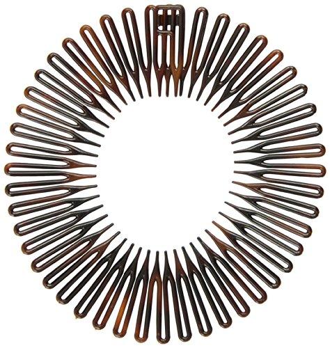 [해외][캐러밴] Caravan 전체 원형 스프링 헤어 밴드 빗 클래식 별갑 深? 클램프 542/[Caravan] Caravan Full Circle Spring Hair Band Comb Classic Tortoiseshell Foot Clutch 542
