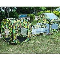 子供用テントセット 折り畳み式 トンネル 収納バッグ付き 子どもの秘密基地 お誕生日 出産祝いのプレゼント (3in1)