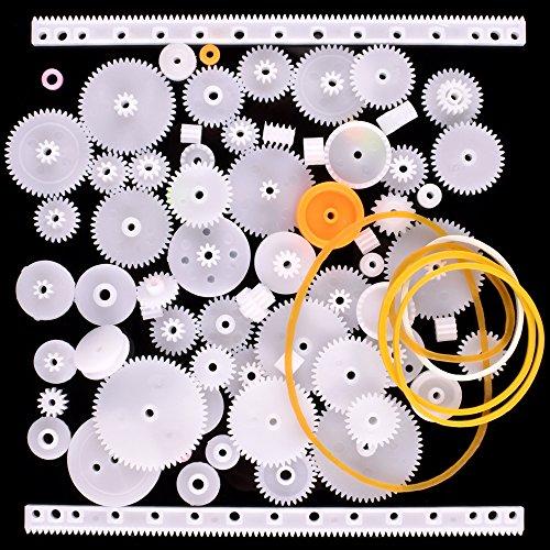 Quimat 75 개세트 톱니바퀴 기어 플라스틱 팩 모듈 모터 DIY 파트 웜  푸리  브레이크 lak 부속 로보트 제작 QY12-QY12-JP