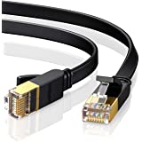 UGREEN Ethernet Cable, Cat 7 Gigabit LAN Network RJ45 High-Speed Patch Cord Flat Design 10Gbps 600Mhz/s for Raspberry Pi 4, C